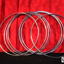"""12"""" Linking Rings Stailess Steel (8 Rings) by Mr. Magic"""
