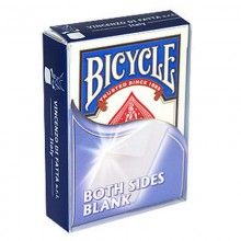 Double Blank Bicycle Deck - Poker size