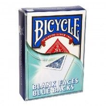 Baraja Caras Blancas - Dorso Azul (Bicycle) - Poker