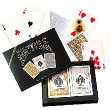 Bicycle Prestige - Gold and Silver deck set