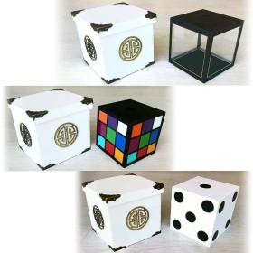 Cubo de cristal a rubik y dado - Tora