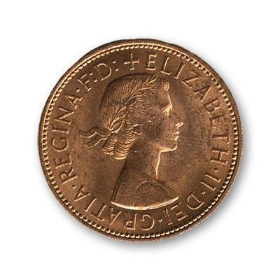 English Penny coin (not gimmicked)