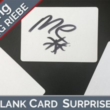 Blank Card Surprise by Wolfgang Riebe video DOWNLOAD