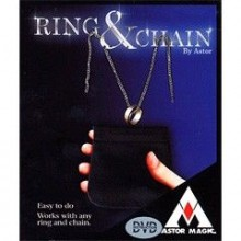 Magic Tricks Ring & Chain (DVD included) by Astor Astor Magic Bt - 1