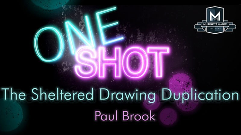 Card Magic and Trick Decks MMS ONE SHOT - The Sheltered Drawing Duplication by Paul Brook video DOWNLOAD MMSMEDIA - 1