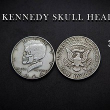 Magic with Coins Kennedy Skull Head by Men Zi Magic TiendaMagia - 1