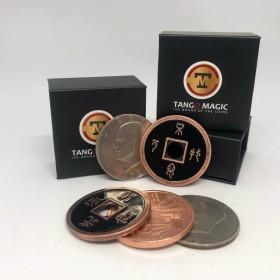 Magia con Monedas Transposicion Plata Cobre China tamaño Un Dólar Eisenhower - Tango Tango Magic - 1