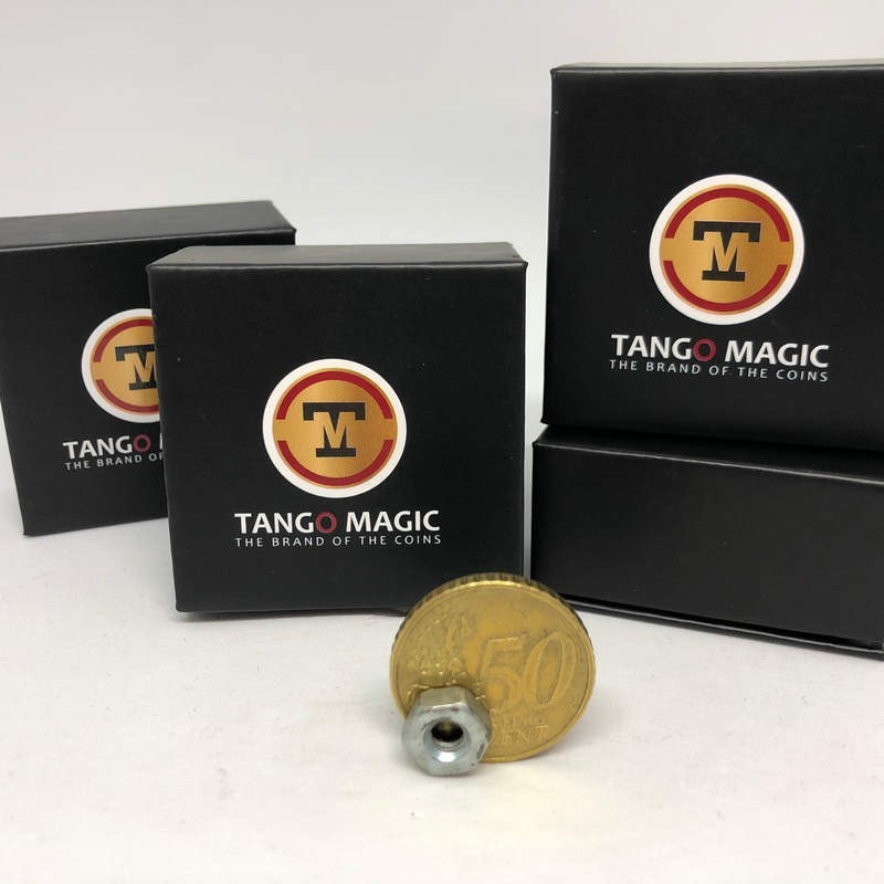 Magic Tricks Magnetic Coin Strong Magnet 50 cents Euro (E0019) by Tango - Trick Tango Magic - 2