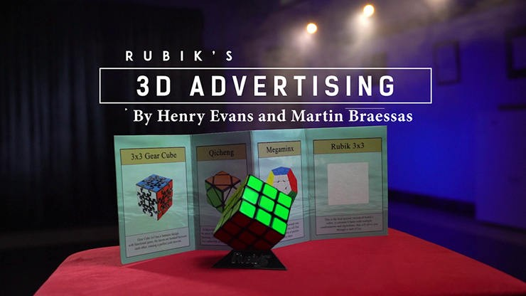 Close Up Rubik's Cube 3D Advertising by Henry Evans and Martin Braessas Henry Evans - 1